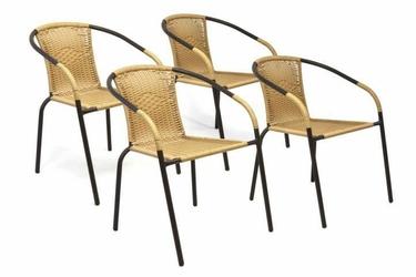 Krzesła ogrodowe 4szt. z rattanu, balkonowe na taras