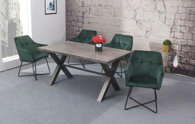 Krzesło sant butelkowa zieleń welur