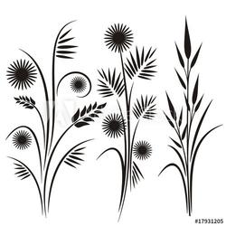 Plakat na papierze fotorealistycznym japońskie wzory kwiatowe