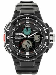 Męski zegarek Skmei AD1148 - elektroniczno-wskazówkowy zs021a