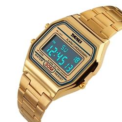 Zegarek SKMEI 1123 LED bransoleta RETRO gold - GOLD