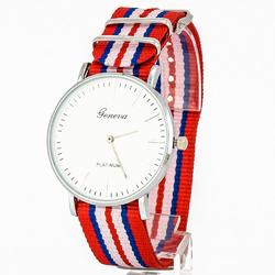 Zegarek modny czerwony - czerwony