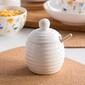 Pojemnik na miód  baryłka do miodu porcelanowa z drewnianym nabierakiem altom design regular