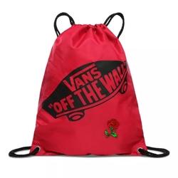 Worek plecak szkolny vans benched bag - vn000sufsq2 - custom red rose