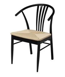 Drewniane krzesło z siedziskiem z włókna naturalnego yuma