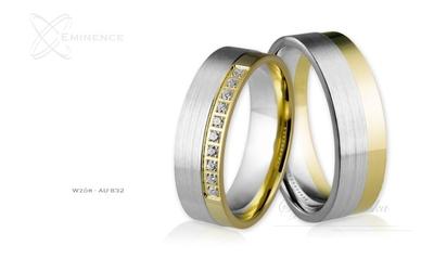 Obrączki ślubne - wzór au-832