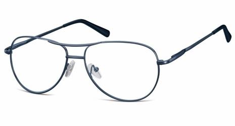 Okulary oprawki dziecięce zerówki pilotki mk1-49c ciemno-niebieskie