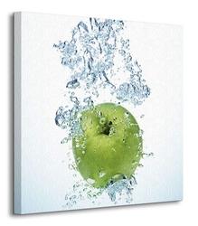 Zielone jabłko - obraz na płótnie