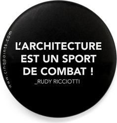 Przypinka czarna Badge Un Sport de Combat