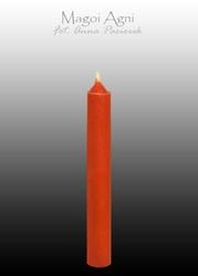 Świeca z wosku 9x1,2cm - czerwona