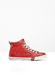Sneakersy mustang bonprix czerwony