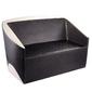 Gabbiano sofa do poczekalni paryż czarno - beżowa