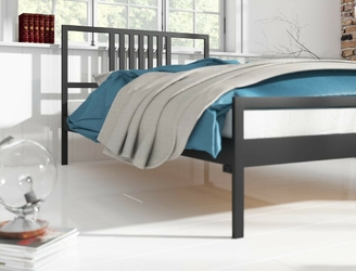 Łóżko metalowe ze stelażem lofter ii