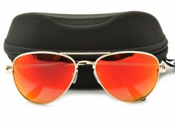 Pomarańczowe pilotki okulary polaryzacyjne lustrzanki std-23