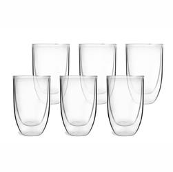 Zestaw wysokich szklanek z podwójnymi ściankami 6 szt. amo vialli design