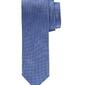 Elegancki błękitny krawat profuomo w białe i granatowe kropki