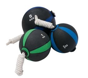 Piłka lekarska z liną 9 kg - bauer fitness - 9 kg