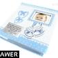 Album na zdjęcia10x15 pamiątka chrzest z grawerem - niebieski