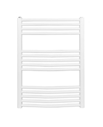Grzejnik łazienkowy york - wykończenie zaokrąglone, 600x800, białyral - paleta ral