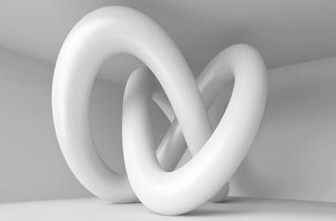 Koncepcja abstrakcji 3d - fototapeta