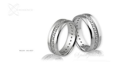 Obrączki ślubne - wzór au-457