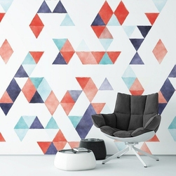 Powerful art - tapeta na ścianę w trójkąty , rodzaj - próbka tapety 50x50cm