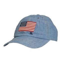 Czapka Polo Ralph Lauren U.S. Flag Classic Baseball Cap Chambray - 710740452001