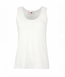 Damska koszulka tunika Fruit of the Loom Ladies Valueweight Vest - 613760 30 - Biały
