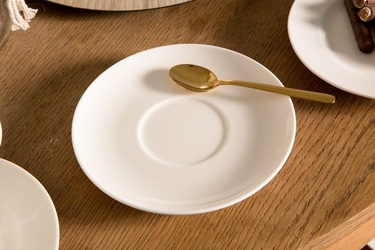 Talerz deserowy  spodek porcelana mariapaula ecru 17 cm