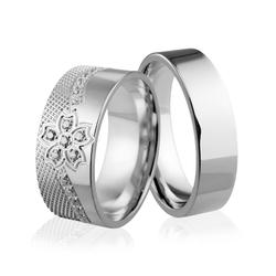Obrączki srebrne - wzór ag-243
