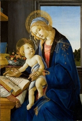 Reprodukcja the virgin and child, sandro botticelli