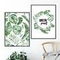 Zestaw dwóch plakatów - green yourself , wymiary - 30cm x 40cm 2 sztuki, kolor ramki - biały