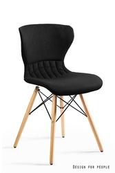 Tapicerowane krzesło na bukowych nogach soft czarne