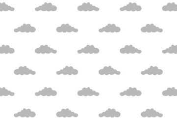 Szare chmurki - fototapeta