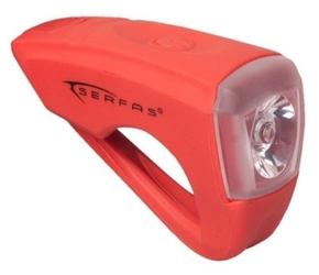 Lampa przednia serfas usl-s 1 reflektor 25 lm czerwony