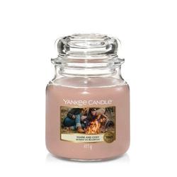 Świeca zapachowa yankee candle 411g słoik średni warm  cosy