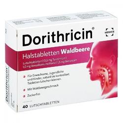 Dorithricin tabletki na gardło o smaku dzikiej jagody