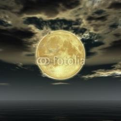 Tapeta ścienna księżyc w pełni i chmury