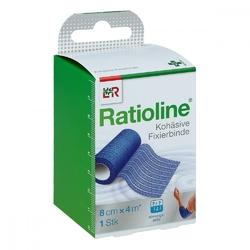 Ratioline acute fixierbinde 8cmx4m blau