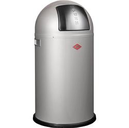 Duży kosz na śmieci srebrny PushBoy 50 litrów Wesco 175831-11