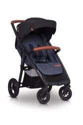 Easygo quantum denim wózek do 22 kg na pompowanych kołach + torba dla mamy gratis