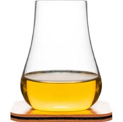 Szklanki do whiskey ze skórzanymi podkładkami - 2 sztuki SF-5017622