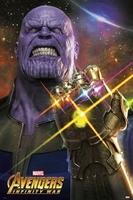 Avengers infinity war thanos - plakat