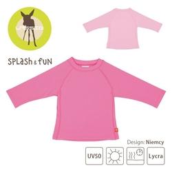 Koszulka z długim rękawem splashfun uv 50+  - light pink 12-18m