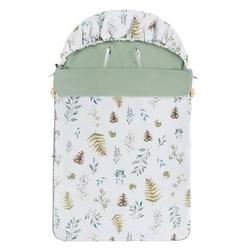 Śpiwór bawełniany wiosenno-letni samiboo superb mini z regulowaną grubością - leśny z khaki