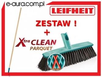 Szczotka leifheit xtra clean do parkietu 30 cm 45033 z drewnianym drążkiem - system click
