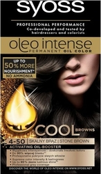 Syoss, oleo, farba do włosów, 4-50 skalny brąz