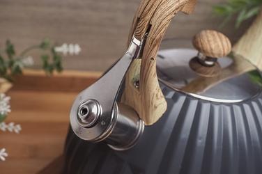 Kinghoff czajnik z gwizdkiem 2.7 l szary