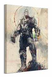 Avengers: Infinity War Thanos Sketch - obraz na płótnie
