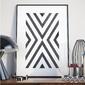 Plakat w ramie - geometric destination , wymiary - 70cm x 100cm, ramka - biała